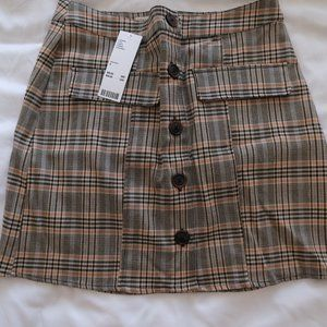 Brown Plaid Urban Outfitters Skirt